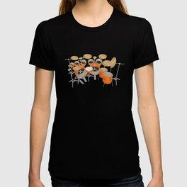 Orange Drum Kit T-shirt