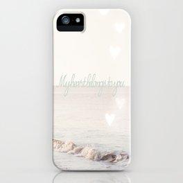 My heart belongs to you iPhone Case