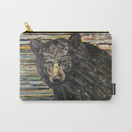 Colorful Black Bear Collage by C.E. White Carry-All Pouch