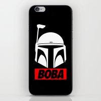 boba iPhone & iPod Skins featuring Defy-Boba by IIIIHiveIIII