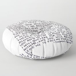 Direction Prayer  Floor Pillow