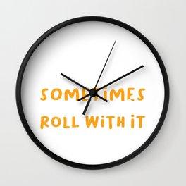 Cinnamon Lovers Funny Baker Baked Goods Saying Gift Wall Clock