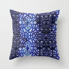 Ari's Blue Throw Pillow