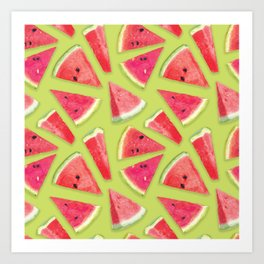 Watermelon Pattern Creation 4 Art Print
