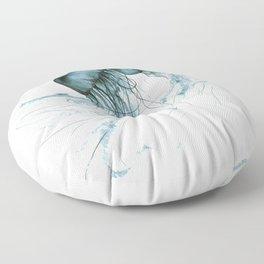 Emerald Waltz, Pacific Sea Nettle Floor Pillow