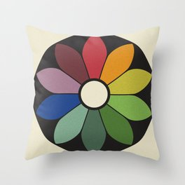 James Ward's Chromatic Circle Throw Pillow