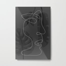 Face Figure Metal Print