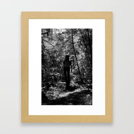 lost in the woods. Framed Art Print