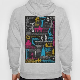 Famous movies quotes, movie,quotes,vector,text,poster,print Hoody