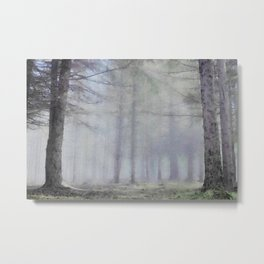 Scottish forest watercolor painting #4 Metal Print