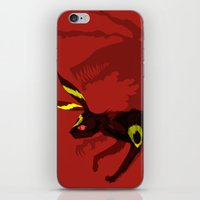 umbreon iPhone & iPod Skins featuring Umbreon by Katie O'Meara