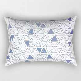 Tribal Expressions in Blue Rectangular Pillow