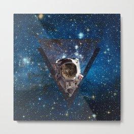 Galaxy Space Cat Astronaut Metal Print