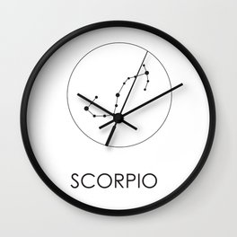 Scorpio Stars Wall Clock