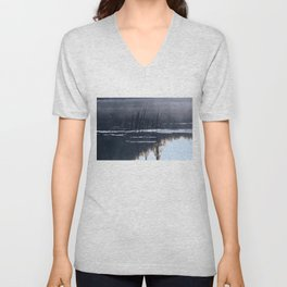 Mists on the Water Unisex V-Neck