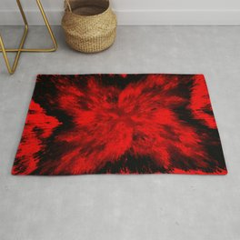 Fire Behind Glass (Red series #11) Rug