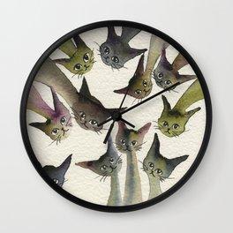 Kessells Whimsical Cats Wall Clock