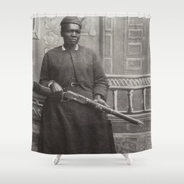 Mary Fields, First African-American Woman Mail Carrier Shower Curtain