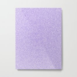 Melange - White and Dark Pastel Purple Metal Print