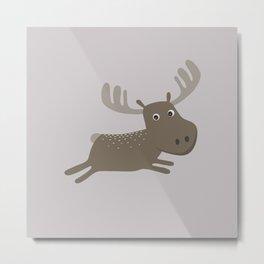 Cute Moose Metal Print