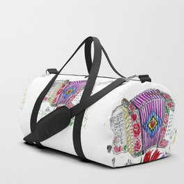 Decorative accordion Duffle Bag
