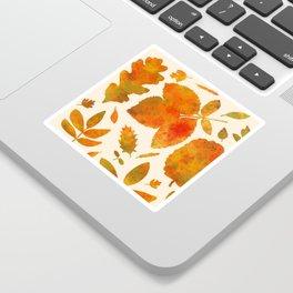 Autumn Leaves Fall Sticker