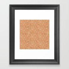 Real Cork Framed Art Print