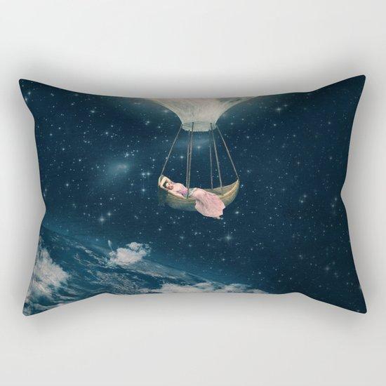 The Moon Carries Me Away Rectangular Pillow