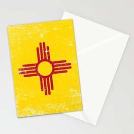New Mexico State Flag Grunge Stationery Cards