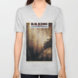 BB King Live At San Quentin CD Cover Unisex V-Neck
