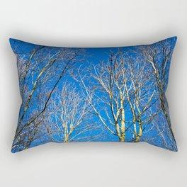 Trees in winter sunlight Rectangular Pillow