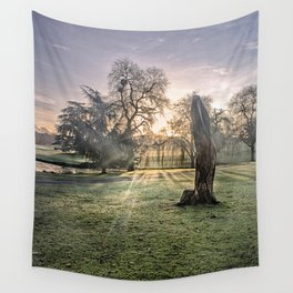 Morning Sun At Leeds Wall Tapestry