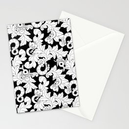You and Me_ Background Black Stationery Cards