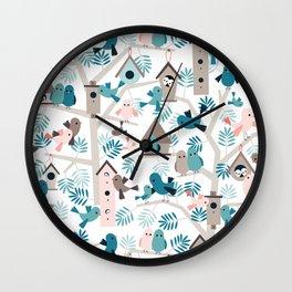 Bird family tree Wall Clock