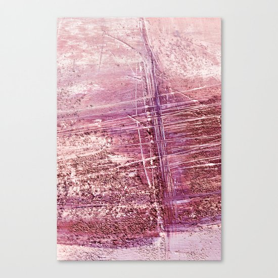 dusty pink abstract Canvas Print
