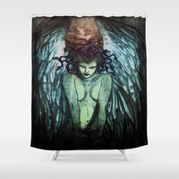 medusa Shower Curtains featuring Medusa  by CLE.ArT.