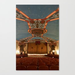 a theater's voice Canvas Print