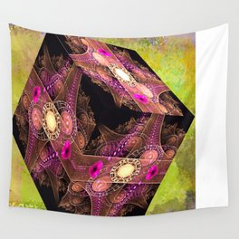 Abstract 136 cube with textures Wall Tapestry