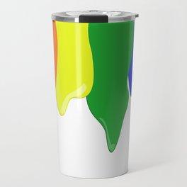 Watch the White Paint Travel Mug