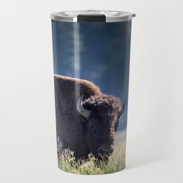 Bison and Pollen Fill The Air Travel Mug