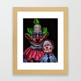 Jumbo the Killer Klown with officer Mooney Framed Art Print