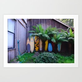 Bolinas Surfshop Art Print