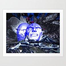Maske des Bösen Art Print