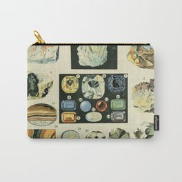 Vintage Minerals Chart Carry-All Pouch