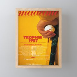 madame figaro trophee 1987  vintage Poster Framed Mini Art Print