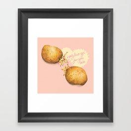 Food Pun - Potato Romance Framed Art Print