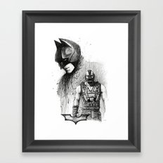 Bat In Black (The Dark Knight Rises) Framed Art Print