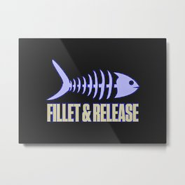 Fillet And Release Metal Print