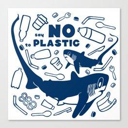 Say No to Plastic- Alopias Canvas Print