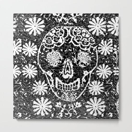 Tribal Sugar Skull Metal Print